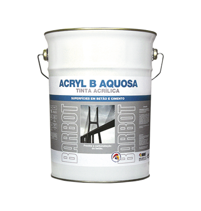 Water-based Acryl B Paint, Exterior Walls, Roofs and Terraces, Concrete, Tintas Barbot