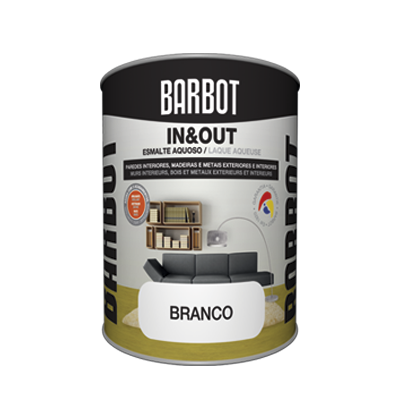In&Out Gloss / Satin / Matt, Wood and Metals, Enamel Paint Wood and Metals, Tintas Barbot