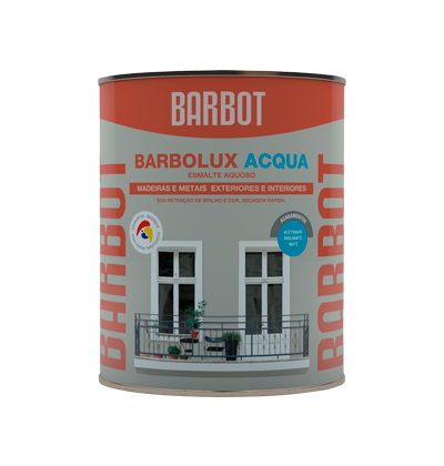 Barbolux Acqua Gloss, Wood and Metals, Enamel Paint Wood and Metals, Tintas Barbot
