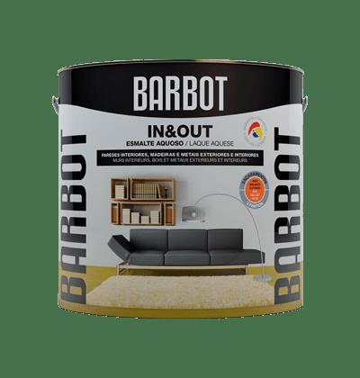 In&Out Acetinado (tinta acrílica), Madeiras e Metais, Esmaltes Madeiras e Metais, Tintas Barbot