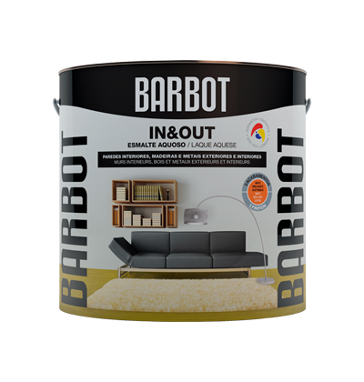 In&Out Gloss, Wood and Metals, Enamel Paint Wood and Metals, Tintas Barbot