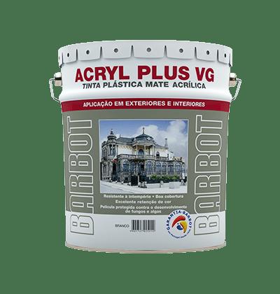 Acryl Plus VG, Murs Extérieurs et Terrasses, Peintures, Tintas Barbot