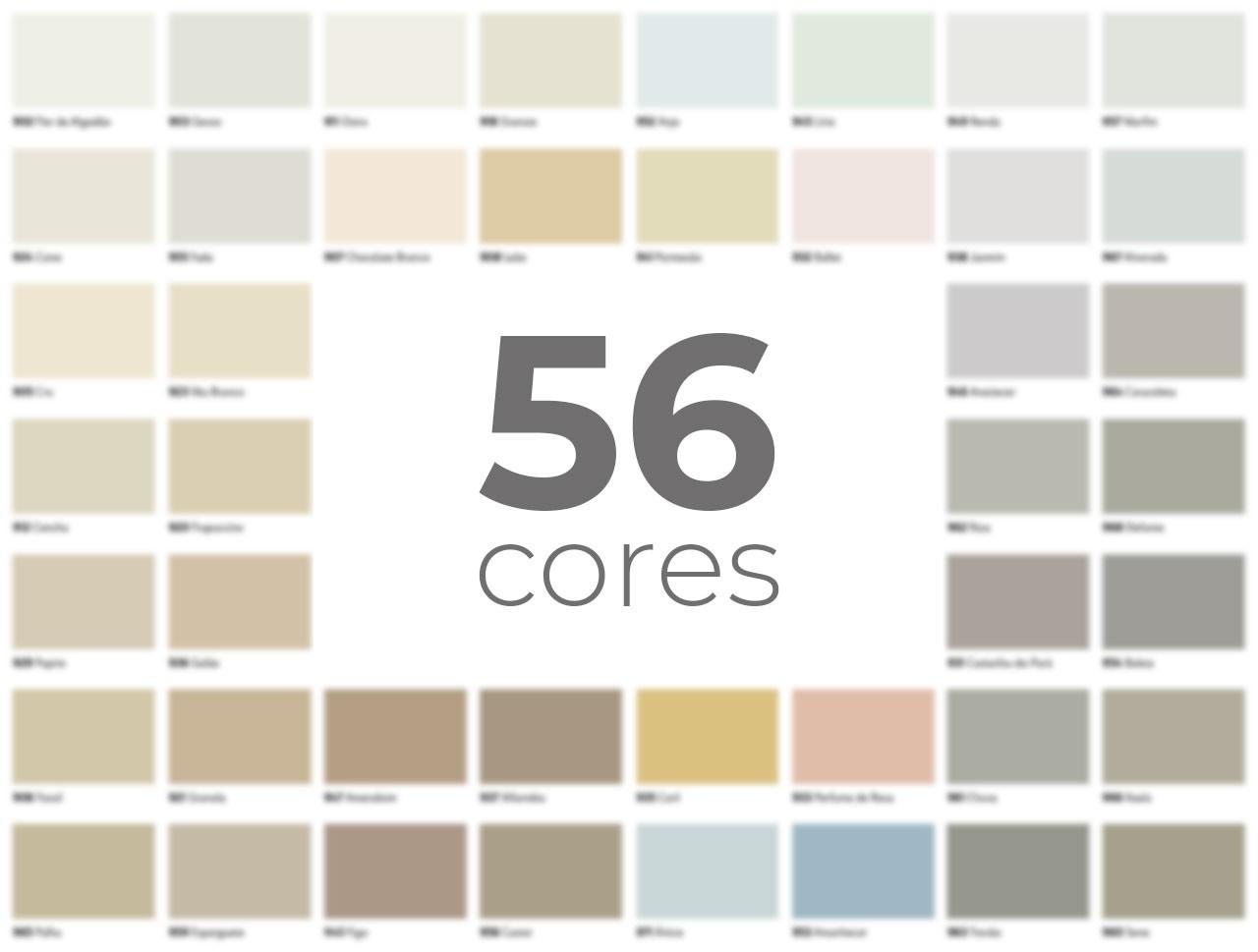 As 56 cores de Dioplaste e Dioplaste Eco