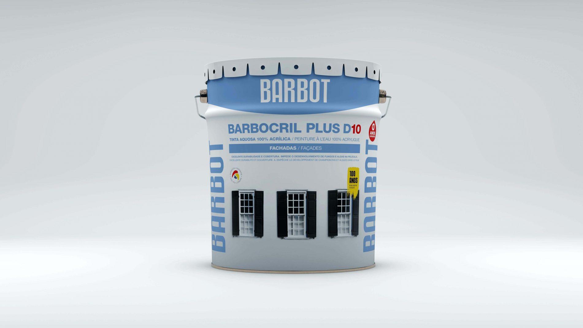 Barbocril Plus D10, Fachadas, Telhados e Terraços, Tintas Lisas, Tintas Barbot