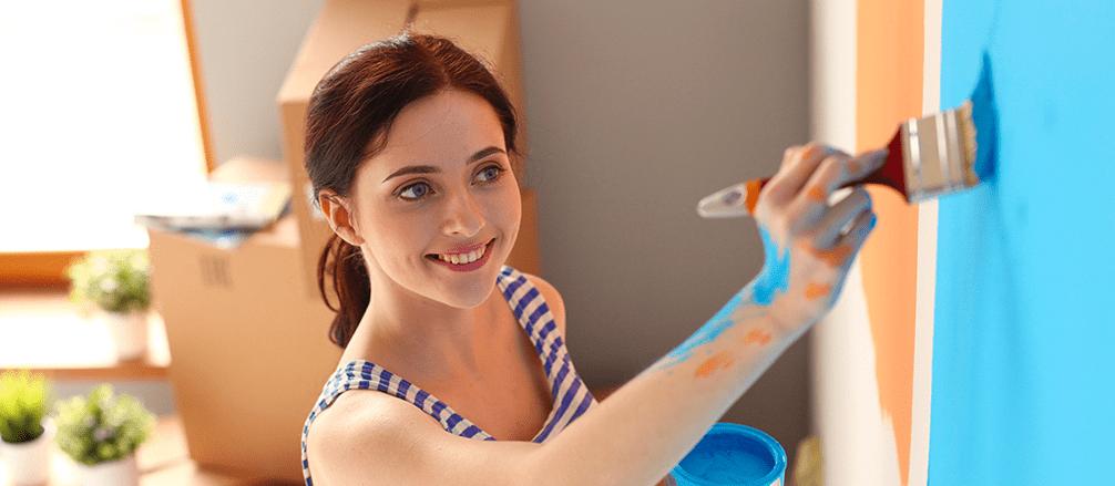 Pintar a casa é no verão